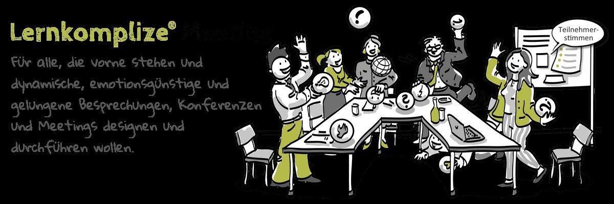 Mitarbeiter im Meeting sind lebendig