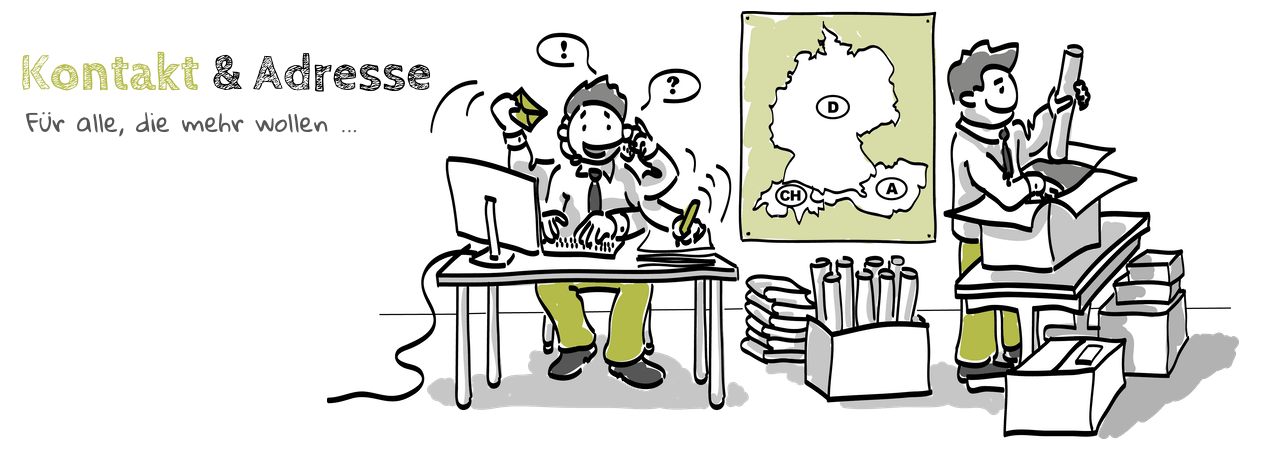 Personen arbeiten und packen in einem Büro